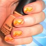 2- Orange Nails